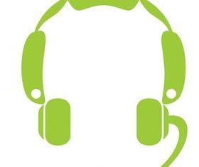 Headset Icon Graphics vector graphics