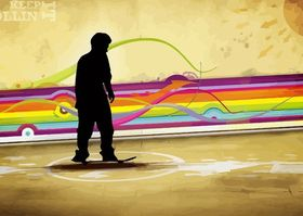 Skater Background Template art vector