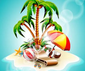 Backgrounds with Beaches Illustration vector