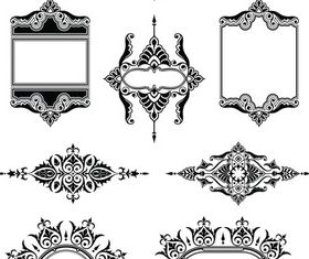 Stylish Vintage Frames 16 vector graphic