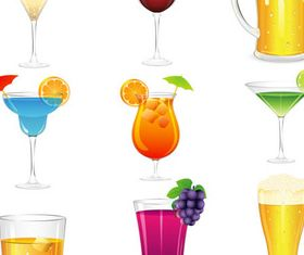 Different Cocktail vector material