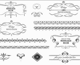 Vintage Design Elements 22 Illustration vector