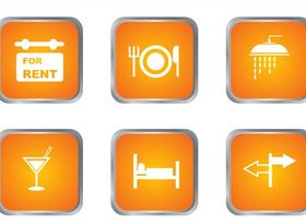 Accommodation Icons design vectors