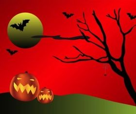 Horror Night design vectors