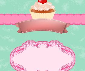 Cupcake Background Vector vector