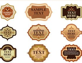 Product Labels art vector