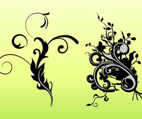 Floral Scrolls graphic vector