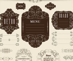 Vintage Menu Elements 17 vector