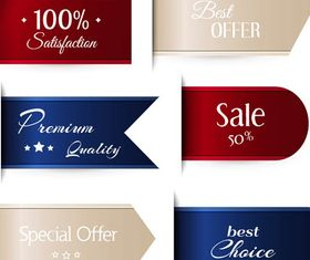 Sale Ribbons graphic vector material