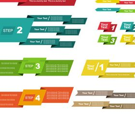 Step Shiny Color Elements vector