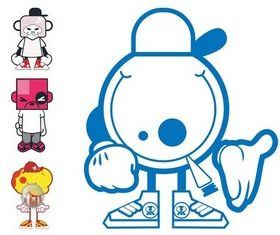 Cartoon Characters Designs art vector