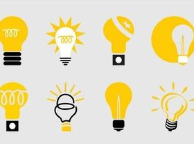 Lightbulbs Icon free design vector