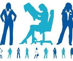 Business women Graphics Illustration vector