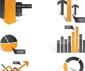 Color Business Diagrams vector