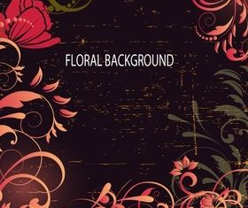Wooden Floral Background vectors graphic