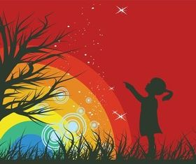 Rainbow Background Graphics art vector