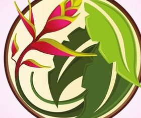 Tropical Flower Icon art vector