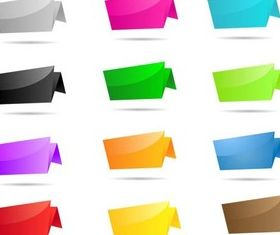 Origami Color Elements vector graphics