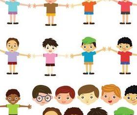 Happy Children creative vector
