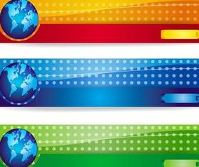 Different Colorful Banners vector