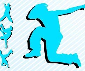 Breakdancers Graphic vector