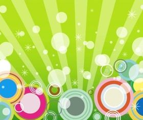 Background With Circles vector graphics