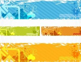 Grunge Banners graphic design vectors