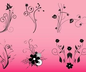 Decorative Flowers Graphics art vectors