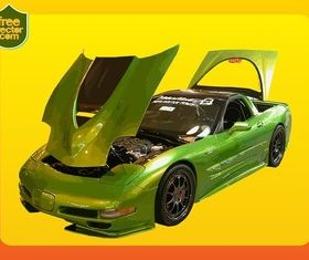 Green Corvette free vector