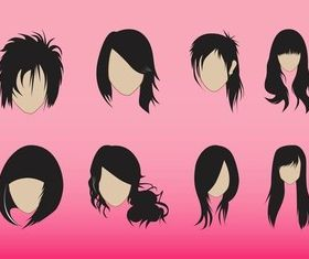 Hairstyles Graphics vector design
