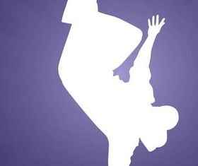 Breakdancer Silhouette art vectors