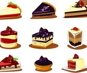 Different Shiny Cakes art vector