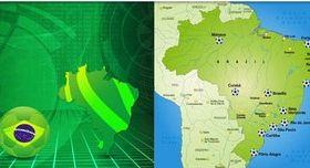 Brazil set vector