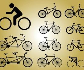 Biking Icons vectors graphic