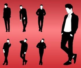Model Poses vector graphic
