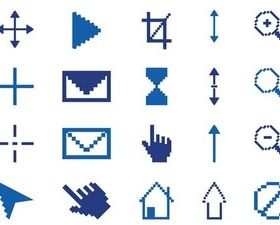 Pixelated Icons Graphics art creative vector