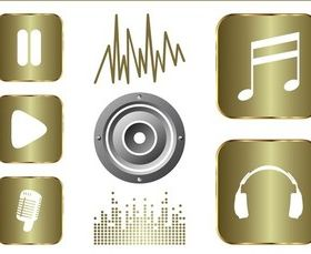 Music And Sound Graphics Set vector