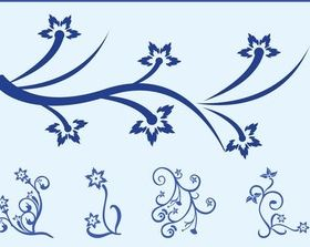 Blue Flowers free vector