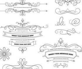 Ornate Swirl Elements 5 vector