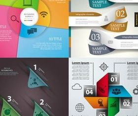 4 Kind Infographics template vector