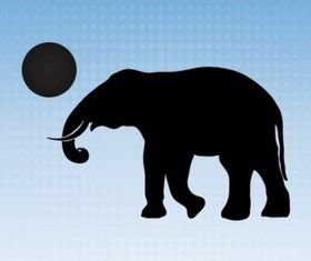 Elephant With Ball vector design