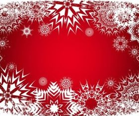 Snow Frame background vector