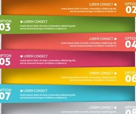 Option Banners 4 vectors graphic