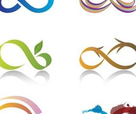 Shiny Infinity Logo set vector
