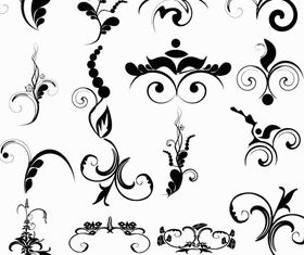 Ornate Floral Elements (Set 21) vector graphics