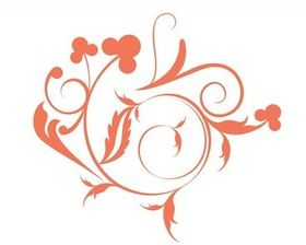 Swirling Floral Design vector