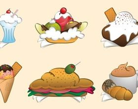 Cartoon Meals art vector