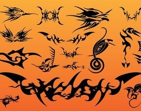 Tribal Tattoo vector graphic