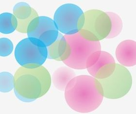 Soft Bubbles background creative vector
