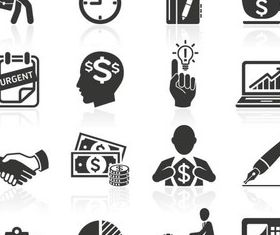 Business People Icons 9 vectors material